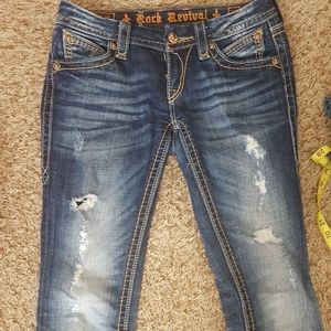 "Rock Revival Leah Straight jeans 27x32"""